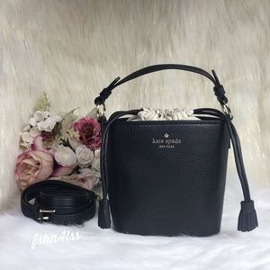 KATE SPADE HAYES BLACK BUCKET BAG